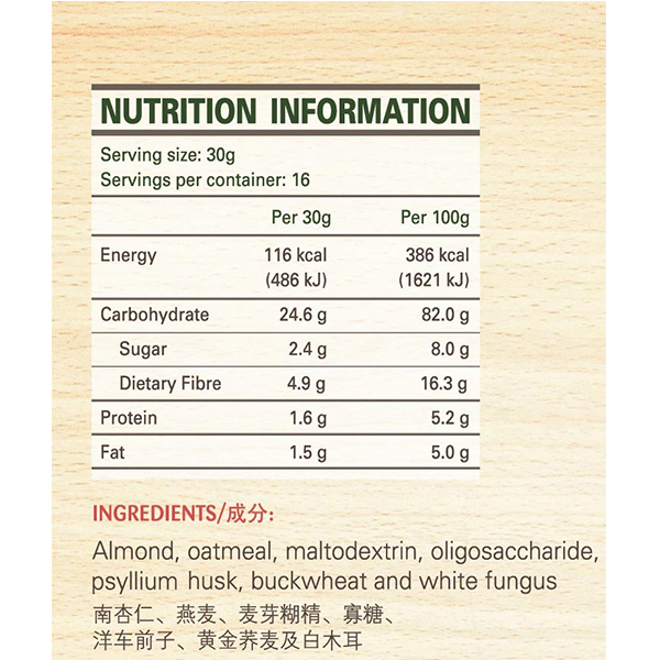 Health D'licious-Almond and Fungus Drink with Buckwheat