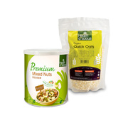 Health D'licious- Organic Quick Oats + Premium Mixed Nuts