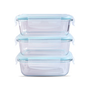 Rectangle Glass Food Container (Set of 3)